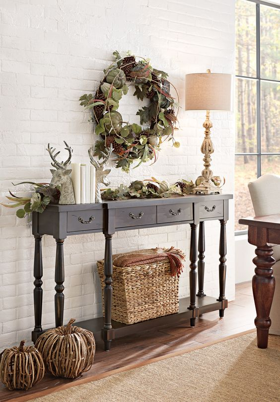 1506110210 MITCHELL CONSOLE TABLE 2214635880 FREEPORT RUG 9307410610 HEIRLOOM PUMPKIN WREATH 9307300610 HEIRLOOM PUMPKIN GARLAND 1759600890 GABBANA SET OF 3 BASKETS 9295500820 RATTAN PUMPKIN 9295510820 RATTAN PUMPKIN 2096400810 AVIAN LAMP 5102900170 DOVER THROW 9296500270 STAG BOOKENDS 1672900960 TABLE WALTON 0273500790 PARSON CHAIR LINEN