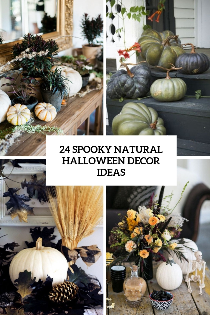 spooky naturla halloween decor ideas cover
