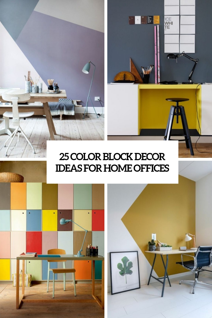 25 Color Block Decor Ideas For Home Offices