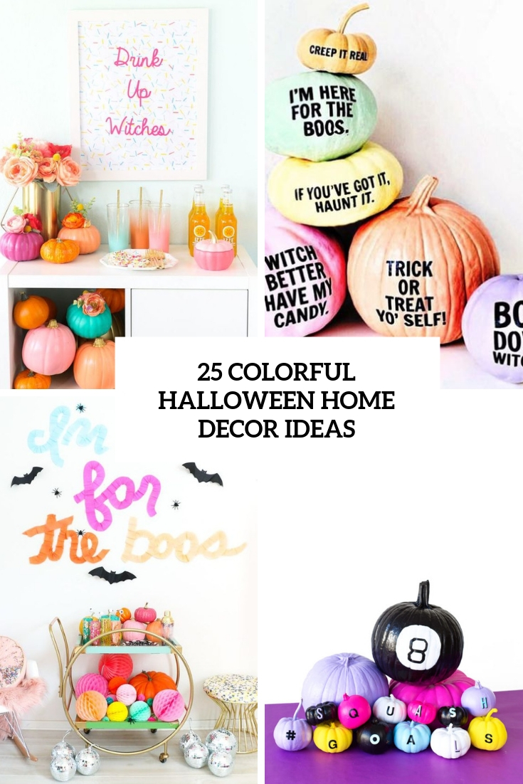 colorful halloween home decor ideas cover