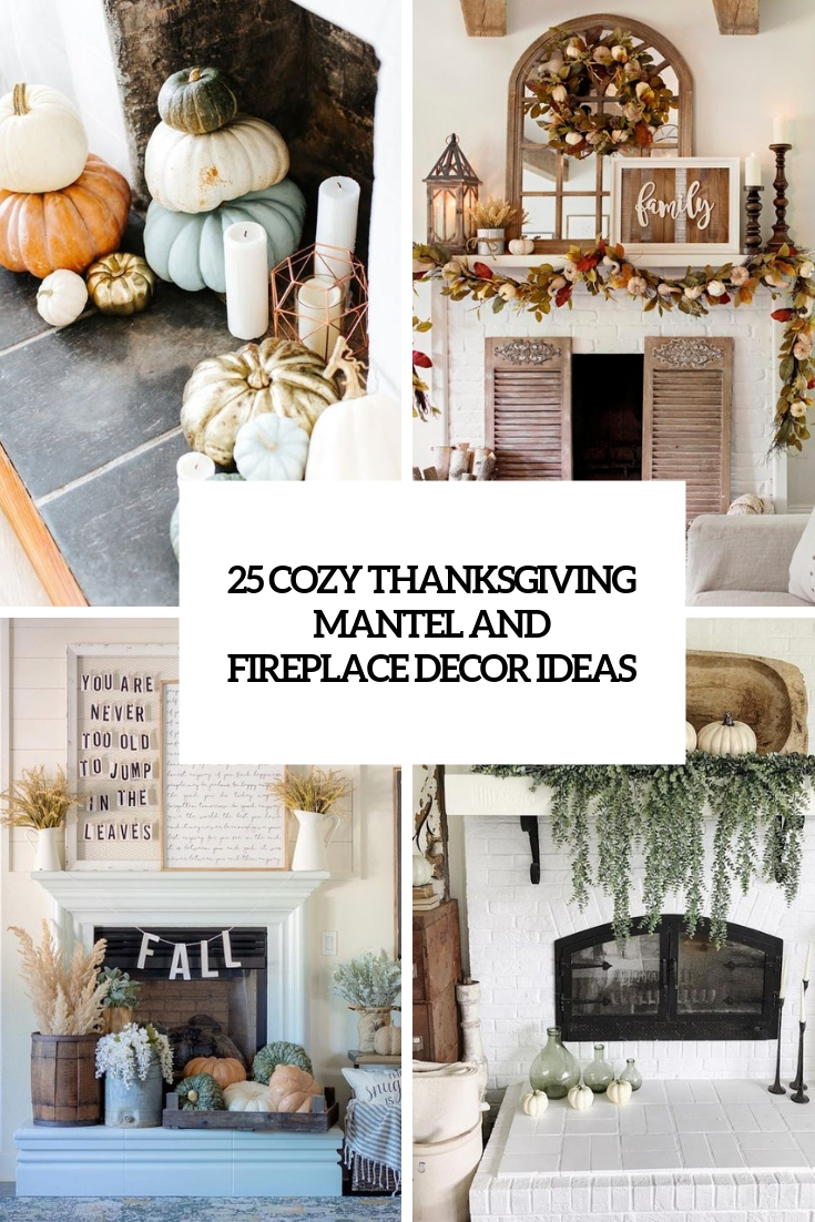cozy thanksgiving mantel and fireplace decor ideas cover