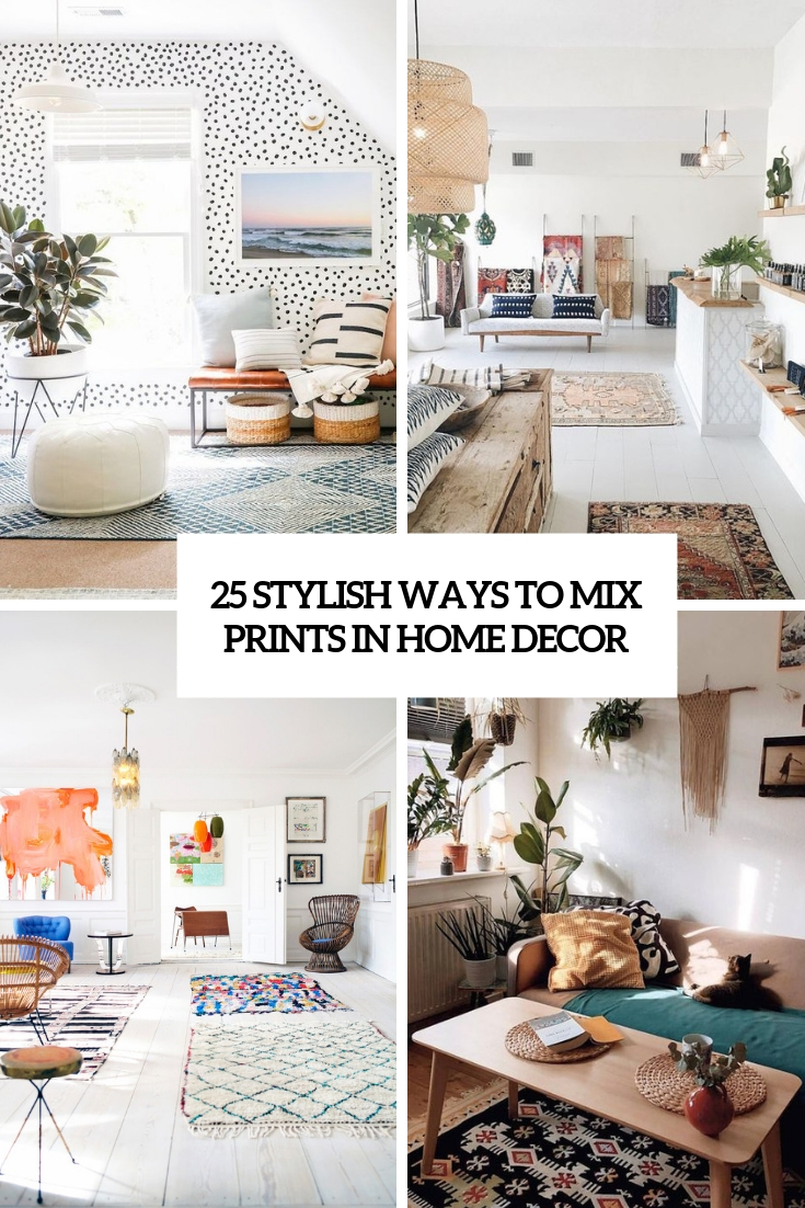 stylish ways to mix prints in home decor cover