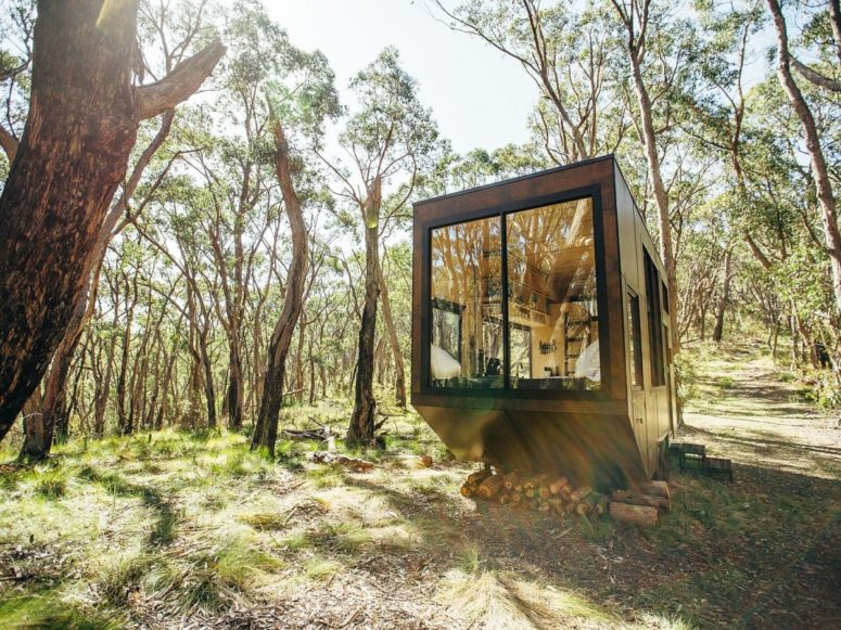 CABN is a tiny off grid cabin that is ideal to bring outdoors in and unplug for some time