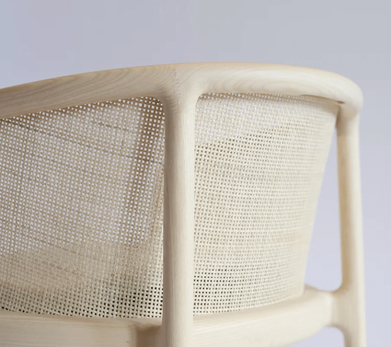 The Masque chair collection is done in modern materials but with an iconic design