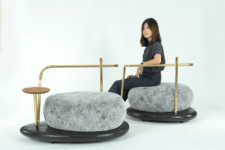 01 This beautiful and calming furniture collection is inspired by Zen gardens and stones