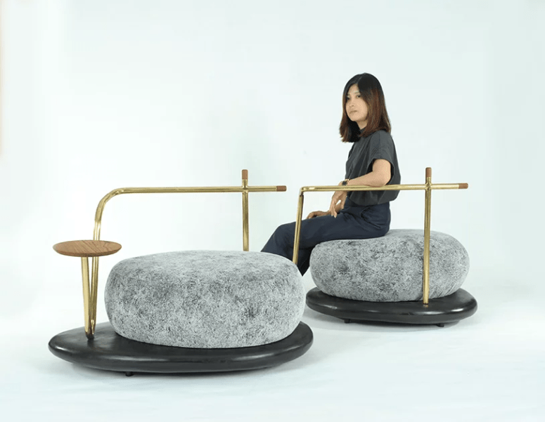 This beautiful and calming furniture collection is inspired by Zen gardens and stones