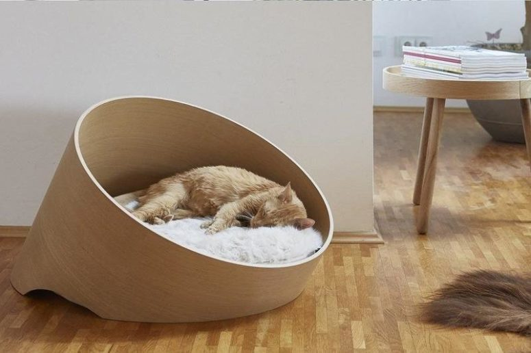 This cat furniture range is totally adorable and features modern luxury while being super comfortable for every kitty