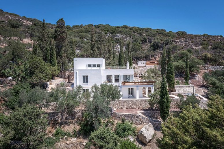 This home in Greece was renovated and got an additional level to let the owners enjoy the views