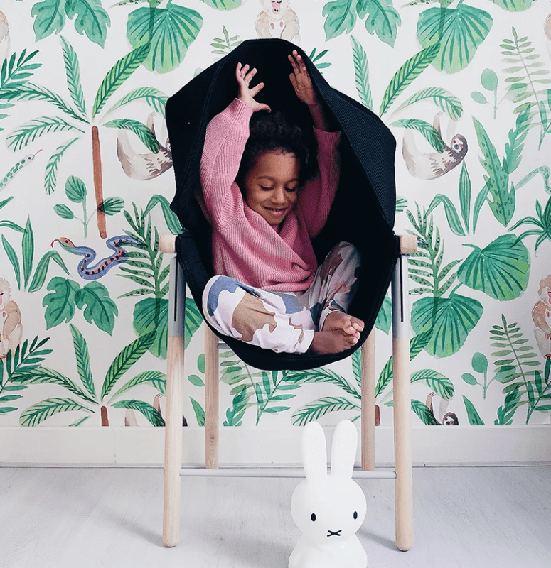 Mia's seat hugs kids and offers mild deep-pressure soothing which boosts serotonin levels and helps with stress