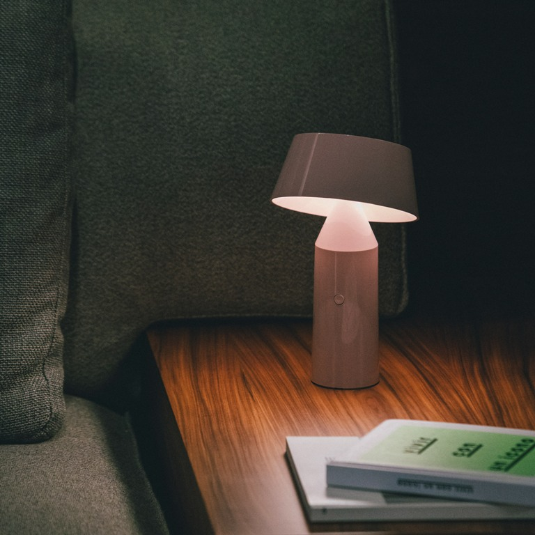The lamp is portable to bring intimate light wherever you need it and make you happy