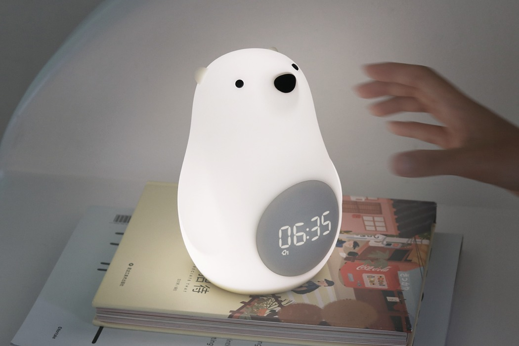 The piece is made of a soft silica gel that is squidgy to the touch, what can be better for kids