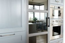 02 choose a fridge with a look that fits your kitchen design or just change the door to make it a perfect fit