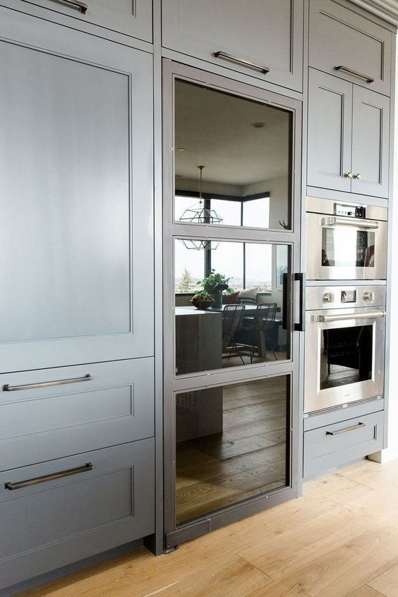 choose a fridge with a look that fits your kitchen design or just change the door to make it a perfect fit