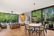 rattan chairs for indoor dining area