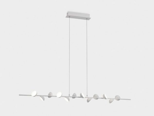 This is a pendant lamp that comprises one single branches with lights