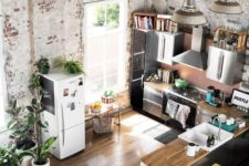04 open layouts are very popular for industrial style homes, they help fill the space with light