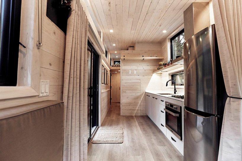 small kitchen design with a window backsplash