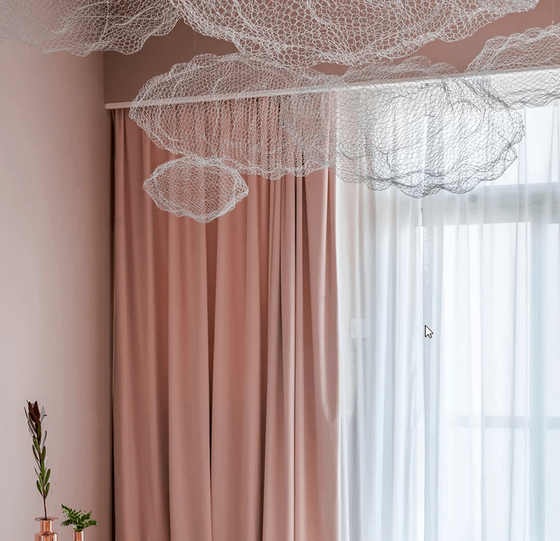 These cloudy net lamps create a real heaven like feel in the kid's room