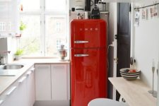 06 spruce up a neutral space with a bright red fridge from SMEG, such a fun idea