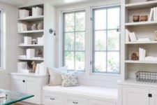 08 a cozy window seat will make your home office more inviting and this space will allow you relaxing