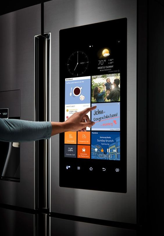 a smart fridge will help you keep an eye on food, information about it, calories and much other stuff