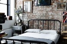 cool industrial bedroom design