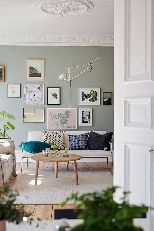 pale greens are also a good idea to make your Scandi space more interesting and catchy