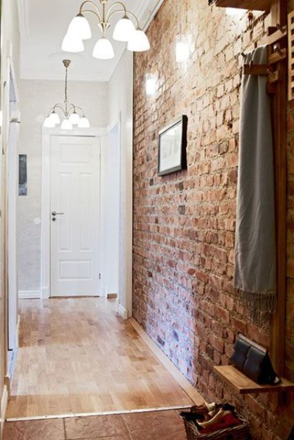 expose your brick walls wherver you have them, they are a great decor feature of industrial style