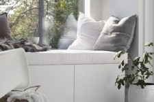 11 if possible, incorporate some storage into your window bench, it will be very useful for you