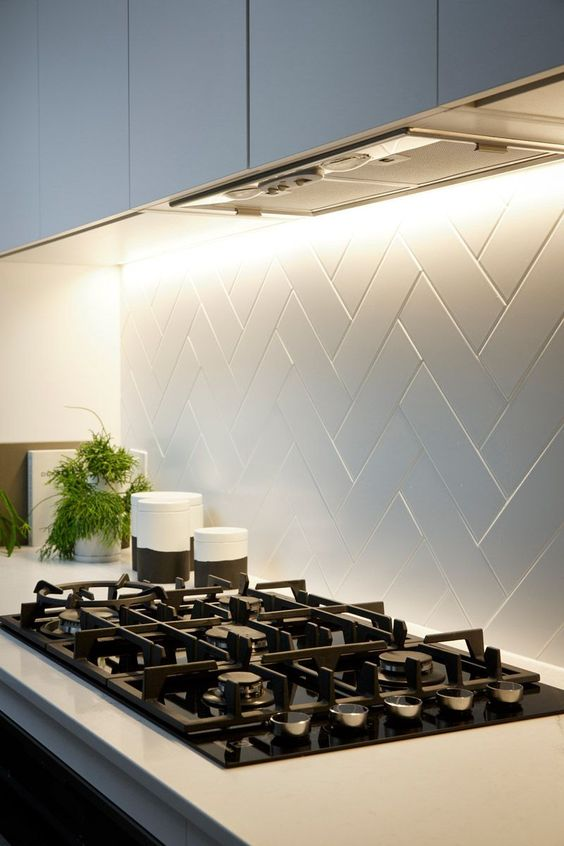 dont' forget of a stylish backsplash by the stovetop to keep the wall safe and cool