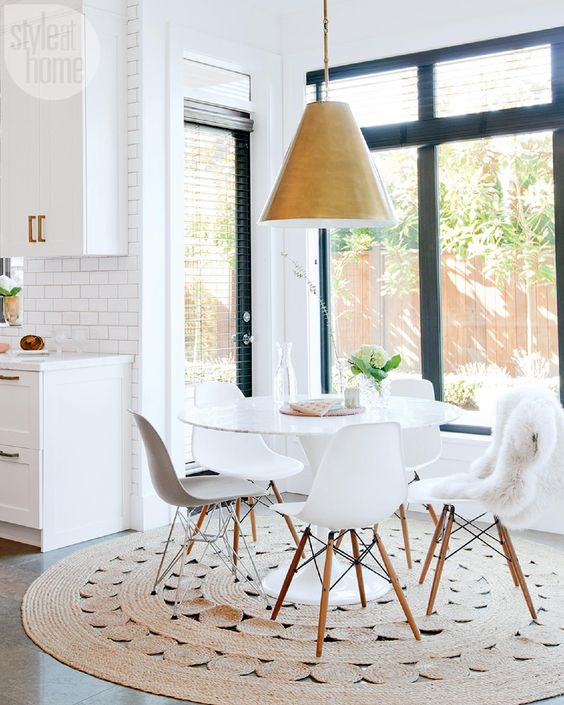 keep the eat in area in the same style as the kitchen and let yourself enjoy the views