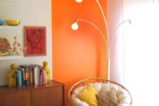18 lots of pillows and soft upholstery plus a colorful accent here make the reading nook special