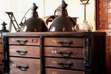 20 you may often see vintage items of wood and metal in industrial spaces, you may find them at flea markets and restore them