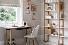 24 rock some neutral wooden furniture in your home office to raise its level of coziness