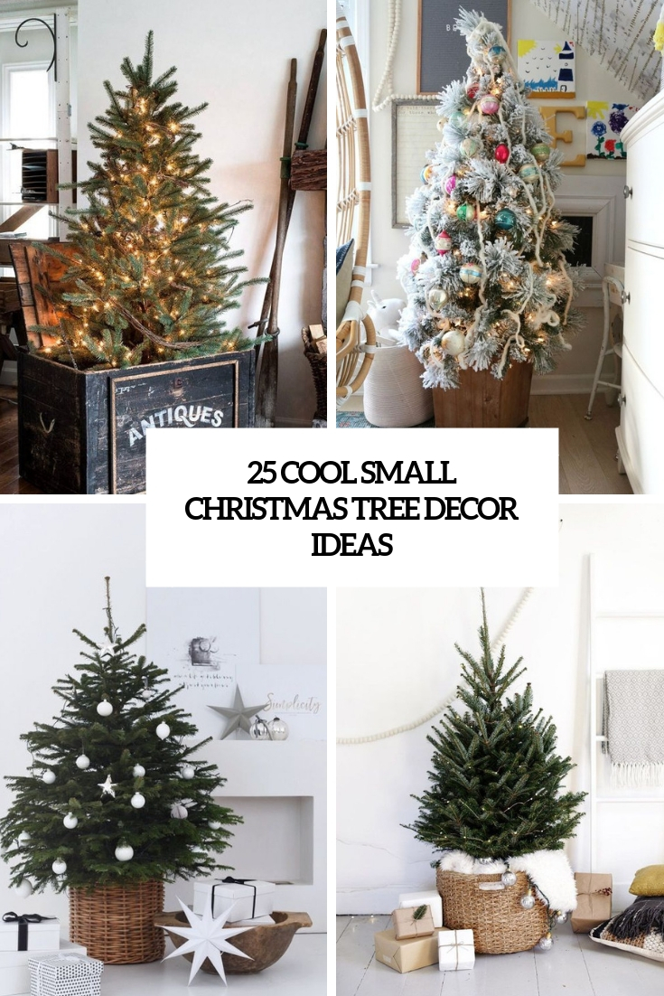 cool small christmas tree decor ideas cover