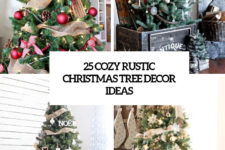 25 cozy rustic christmas tree decor ideas cover
