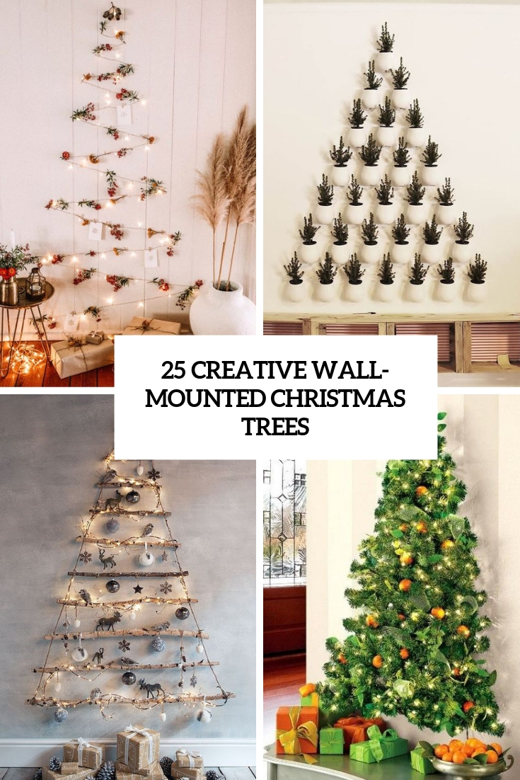 25 Creative Wall Mounted Christmas Trees Digsdigs