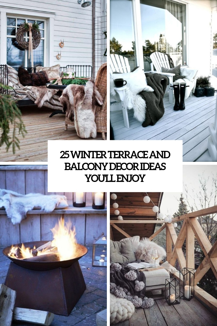 25 Winter Terrace And Balcony Decor Ideas You'll Enjoy