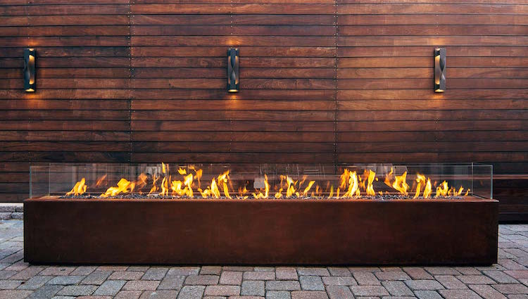 Komodo fire pit is a great way to keep your outdoor spaces warm and stylish even in winter