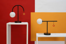 01 Mas table lamps are inspired by mid-century modern design and look very retro-like making a statement