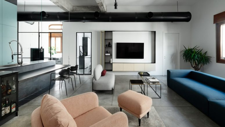 This ultra modern apartment was renovated to fit the owners' lifestyle and their needs completely