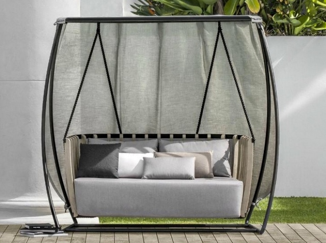 great swing for an outdoor space