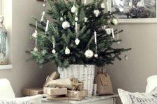 small christmas tree with tiny ornaments