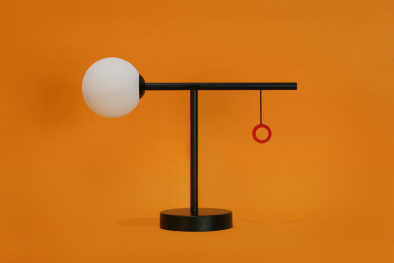 Colorful switches are great to accent these table lamps