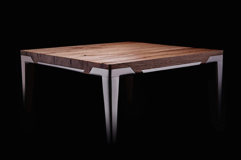 Each table is unique as wood has always different looks and patterns