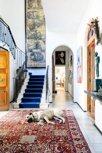 boho eclectic entryway decor