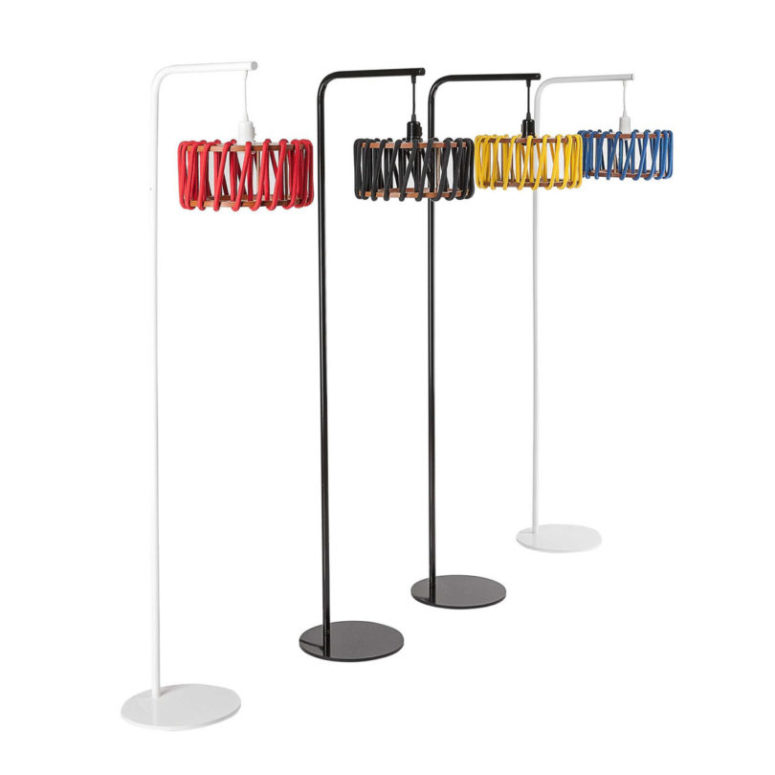 The lamps are avilable in black and white and with various bold colors of cord to match your interior
