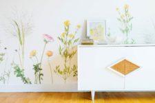 stylish floral wallpaper