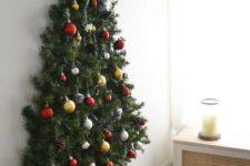 space-saving wall-mount christmas tree
