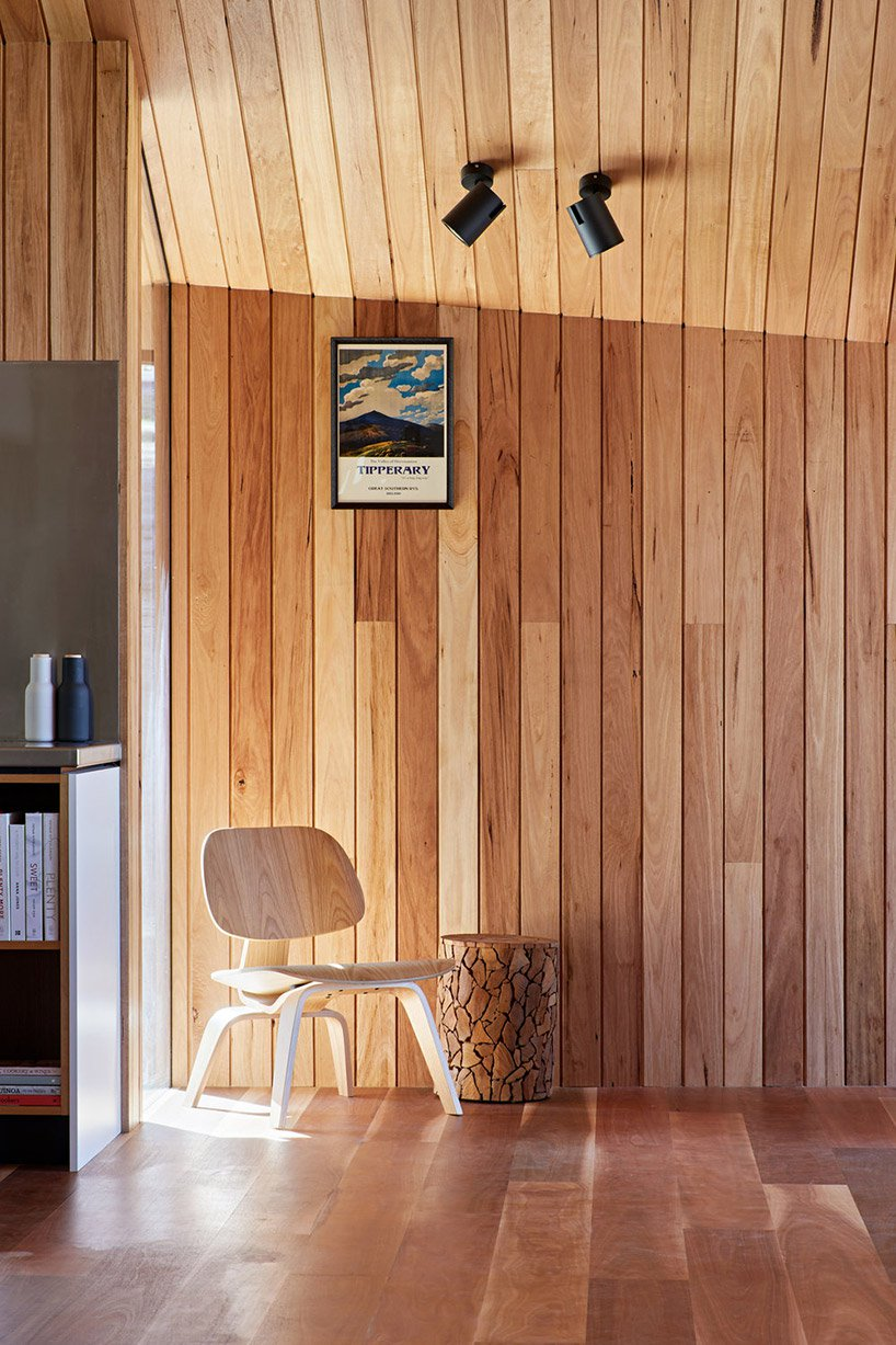 There's much wood in decor and the furniture is of plywood and wood, too
